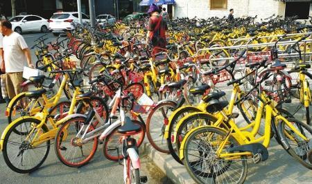 """狂欢后资本泡沫破裂 中国单车""""第一镇""""风光不再"""